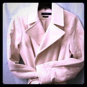 Ralph Lauren origina woman's cream-colored coat